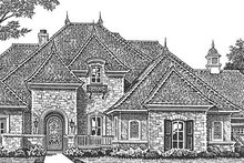 House Plan Design - European Exterior - Front Elevation Plan #310-1276