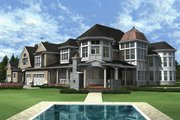 Traditional Style House Plan - 4 Beds 6 Baths 7900 Sq/Ft Plan #132-216 Exterior - Rear Elevation