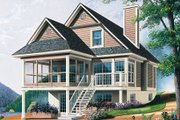Traditional Style House Plan - 3 Beds 2 Baths 1484 Sq/Ft Plan #23-2063 Exterior - Front Elevation