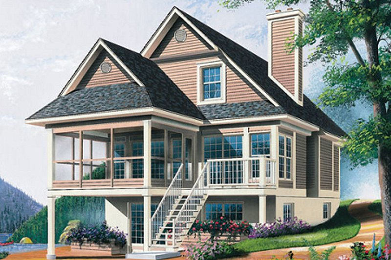 Architectural House Design - Traditional Exterior - Front Elevation Plan #23-2063