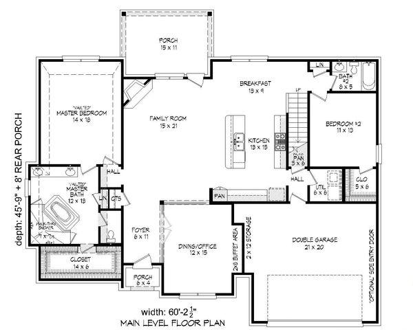 Country Floor Plan - Main Floor Plan Plan #932-209