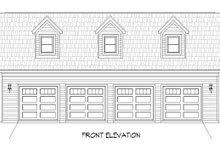 Country Exterior - Front Elevation Plan #932-184