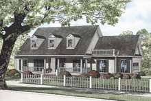 Architectural House Design - Country Exterior - Front Elevation Plan #17-3253