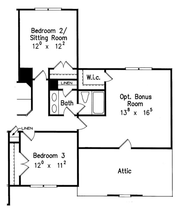 Traditional Floor Plan - Other Floor Plan Plan #927-466