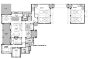 Ranch Style House Plan - 4 Beds 5 Baths 4938 Sq/Ft Plan #928-293 Floor Plan - Main Floor Plan