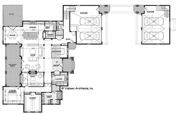 Ranch Floor Plan - Main Floor Plan Plan #928-293