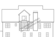 Country Exterior - Rear Elevation Plan #927-817