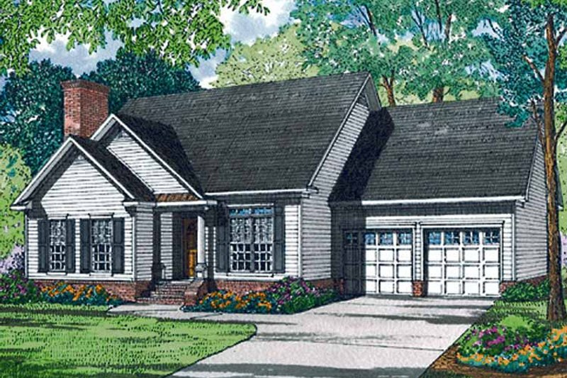 Ranch Exterior - Front Elevation Plan #17-3131 - Houseplans.com