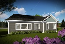 House Plan Design - Ranch Exterior - Rear Elevation Plan #70-1457