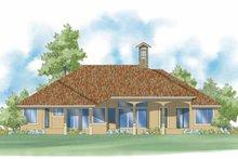 Home Plan Design - Mediterranean Exterior - Rear Elevation Plan #930-422