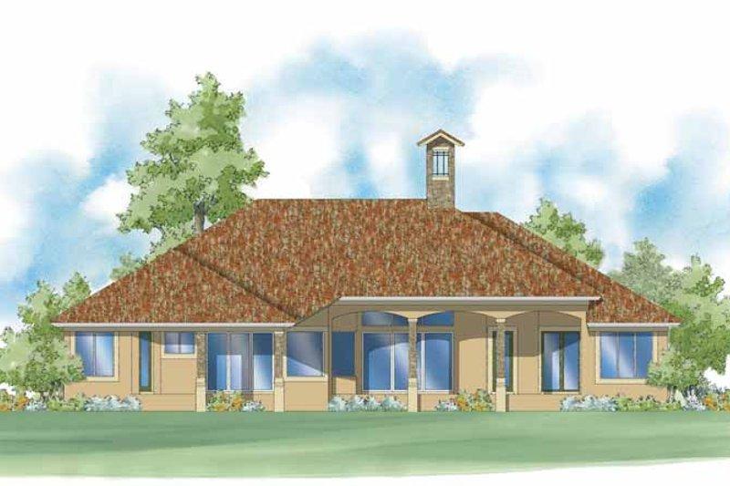 Mediterranean Exterior - Rear Elevation Plan #930-422 - Houseplans.com