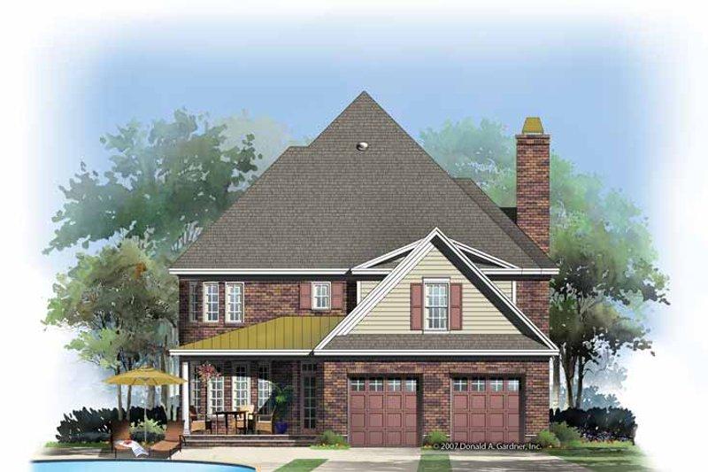 Country Exterior - Rear Elevation Plan #929-867 - Houseplans.com