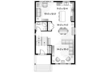 Contemporary Floor Plan - Main Floor Plan Plan #23-2584
