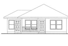 Ranch Exterior - Front Elevation Plan #117-847