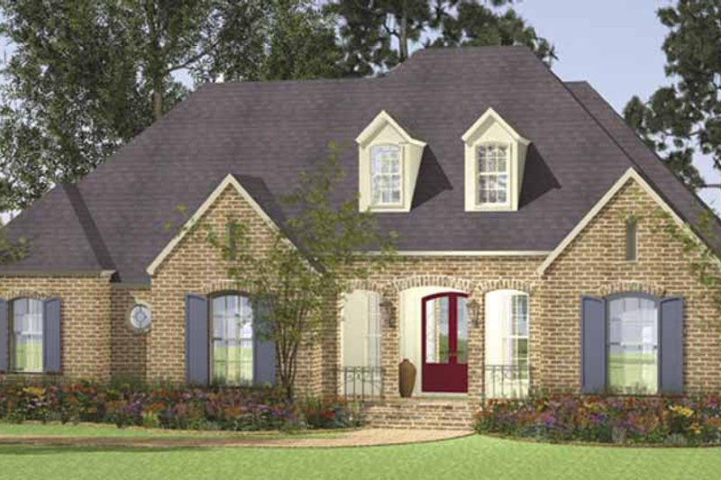 Country Exterior - Front Elevation Plan #406-9628 - Houseplans.com