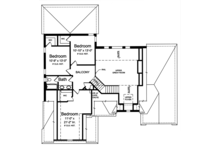 Cottage Floor Plan - Upper Floor Plan Plan #46-865