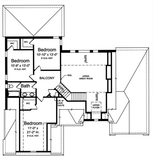 Cottage Floor Plan - Upper Floor Plan Plan #46-865
