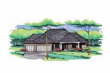 Architectural House Design - European Exterior - Front Elevation Plan #51-984