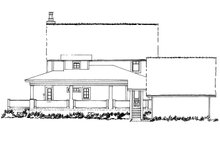Country Exterior - Rear Elevation Plan #942-50