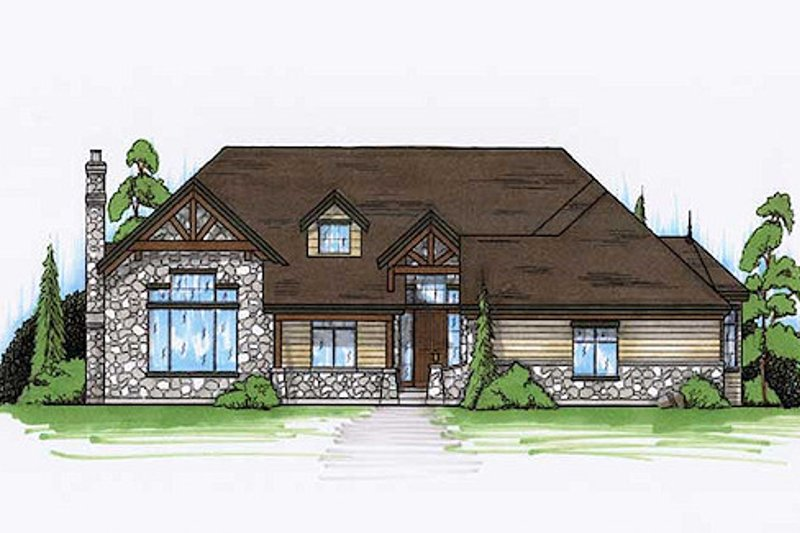 Home Plan - Traditional Exterior - Front Elevation Plan #5-264