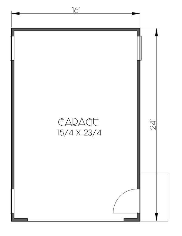 Prairie Floor Plan - Main Floor Plan Plan #423-54