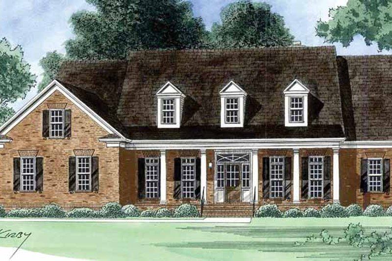 Country Exterior - Front Elevation Plan #1054-16