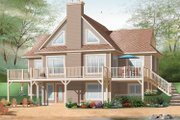 Country Style House Plan - 4 Beds 2.5 Baths 3147 Sq/Ft Plan #23-2424 Exterior - Front Elevation