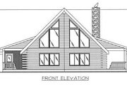 Log Style House Plan - 3 Beds 2 Baths 2261 Sq/Ft Plan #117-504 Exterior - Other Elevation