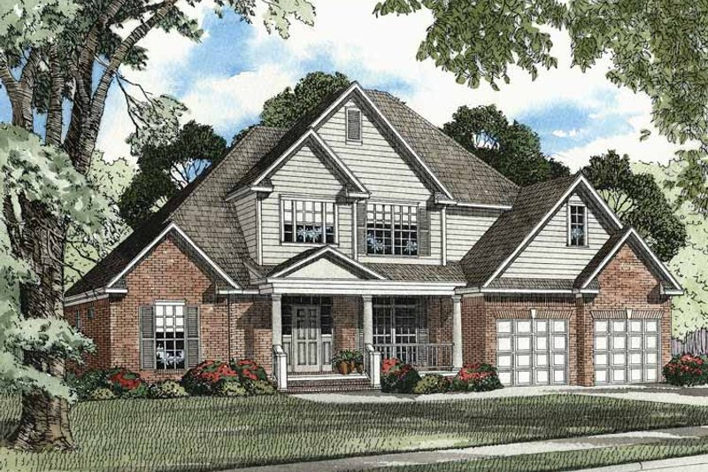 Dream House Plan - Traditional Exterior - Front Elevation Plan #17-2879