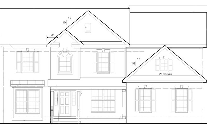 Traditional Exterior - Front Elevation Plan #1053-55 - Houseplans.com