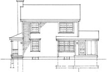 Dream House Plan - Victorian Exterior - Rear Elevation Plan #1016-53