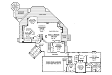 Contemporary Floor Plan - Main Floor Plan Plan #314-287