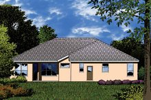 Mediterranean Exterior - Rear Elevation Plan #1015-22