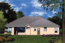 Dream House Plan - Mediterranean Exterior - Rear Elevation Plan #1015-22