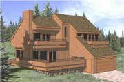 Contemporary Style House Plan - 3 Beds 2 Baths 1871 Sq/Ft Plan #116-125 Exterior - Front Elevation