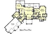 Craftsman Style House Plan - 4 Beds 4.5 Baths 4812 Sq/Ft Plan #921-23 Floor Plan - Main Floor