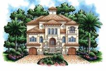Architectural House Design - Mediterranean Exterior - Front Elevation Plan #1017-110