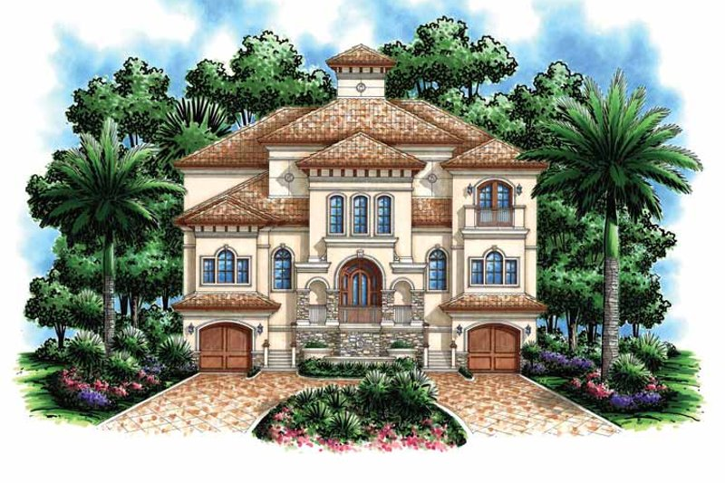 Mediterranean Exterior - Front Elevation Plan #1017-110 - Houseplans.com