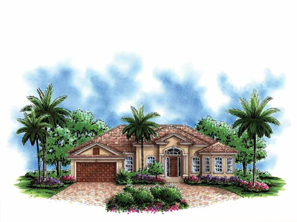 Mediterranean style house plan 3 beds 2 5 baths 1786 sq for British house designs