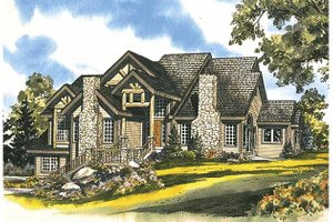European Exterior - Front Elevation Plan #942-1