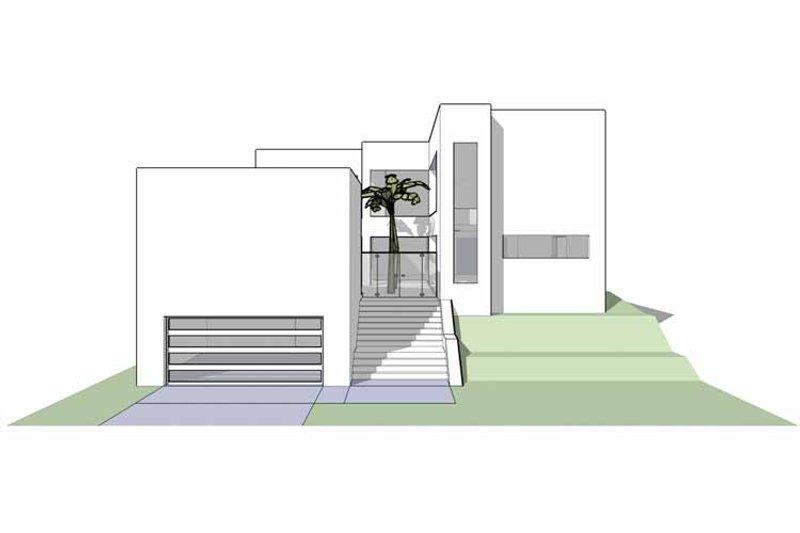 Contemporary Exterior - Front Elevation Plan #64-298 - Houseplans.com