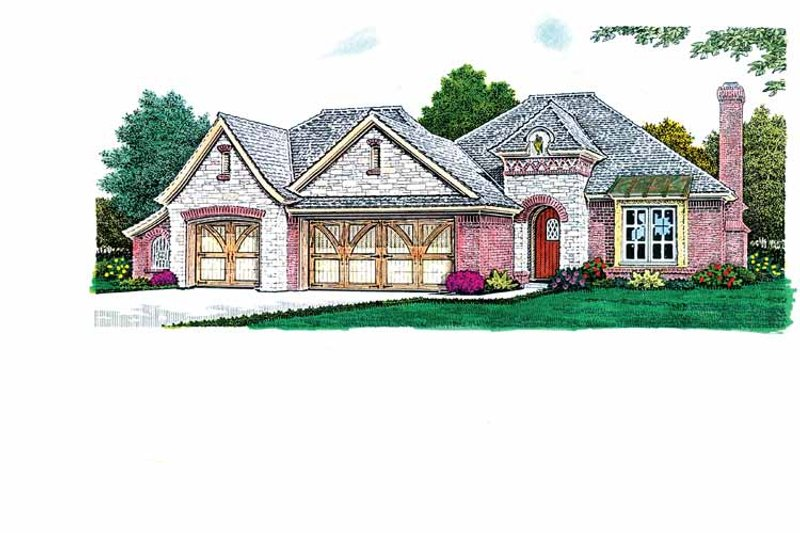European Exterior - Front Elevation Plan #310-1237