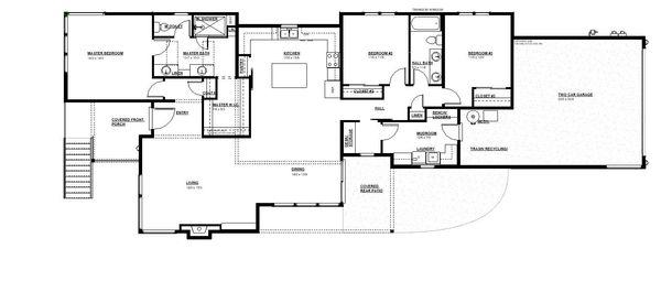 Modern Floor Plan - Main Floor Plan Plan #895-120