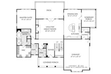 Colonial Floor Plan - Main Floor Plan Plan #927-969