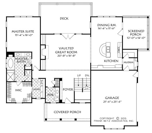 Home Plan - Colonial Floor Plan - Main Floor Plan #927-969
