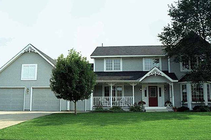 Country Exterior - Front Elevation Plan #51-755 - Houseplans.com