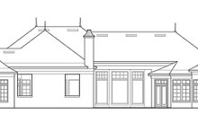 House Design - European Exterior - Rear Elevation Plan #417-816