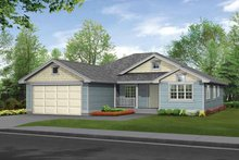 Dream House Plan - Craftsman Exterior - Front Elevation Plan #132-270