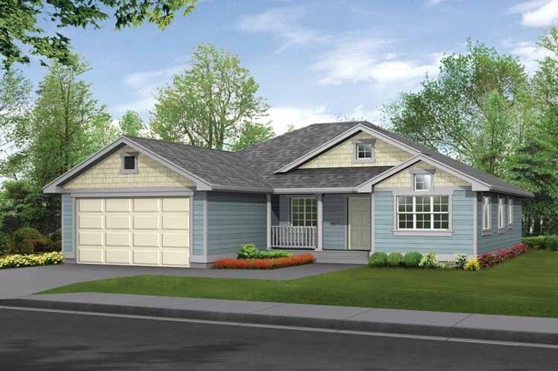 Craftsman Exterior - Front Elevation Plan #132-270