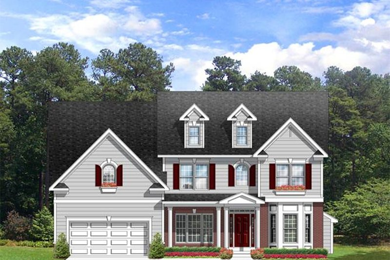 Colonial Exterior - Front Elevation Plan #1010-64